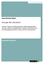 Titel: Occupy the elections?