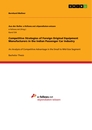Titel: Competitive Strategies of Foreign Original Equipment Manufacturers in the Indian Passenger Car Industry