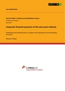 Titel: Corporate financial practices of the auto parts industry