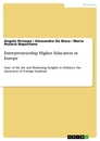 Titel: Entrepreneurship Higher Education in Europe
