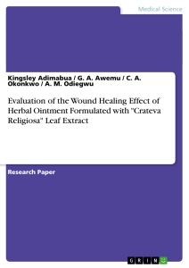 """Titel: Evaluation of the Wound Healing Effect of Herbal Ointment Formulated with """"Crateva Religiosa"""" Leaf Extract"""