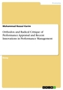 Titel: Orthodox and Radical Critique of Performance Appraisal and Recent Innovations in Performance Management