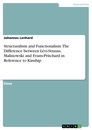 Titel: Structuralism and Functionalism. The Difference between Lévi-Strauss, Malinowski and Evans-Pritchard in Reference to Kinship