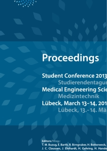 Titel: Student Conference Medical Engineering Science 2013