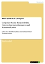 Titel: Corporate Social Responsibility, Unternehmensperformance und Kommunikation