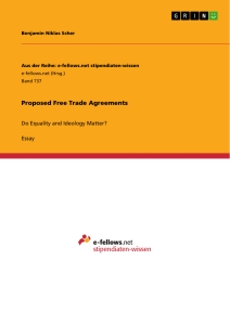 Titel: Proposed Free Trade Agreements