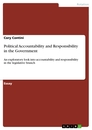 Titel: Political Accountability and Responsibility in the Government