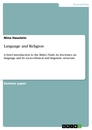 Titel: Language and Religion