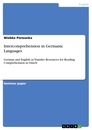 Titel: Intercomprehension in Germanic Languages