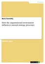 Titel: How the organisational environment influences rational strategy processes