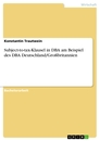 Titel: Subject-to-tax-Klausel in DBA