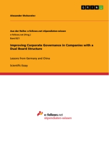 Titel: Improving Corporate Governance in Companies with a Dual Board Structure