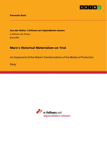 Titel: Marx's Historical Materialism on Trial