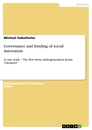 Titel: Governance and funding of social innovation