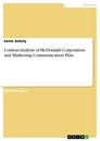 Titel: Context Analysis of McDonalds Corporation and Marketing Communication Plan