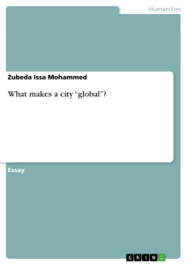 "Titel: What makes a city ""global""?"