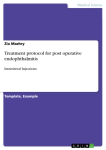 Titel: Treatment protocol for post operative endophthalmitis