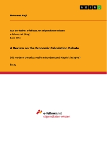 Titel: A Review on the Economic Calculation Debate