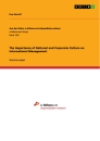 Titel: The Importance of National and Corporate Culture on International Management