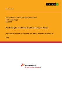 Titel: The Principle of a Defensive Democracy in Action