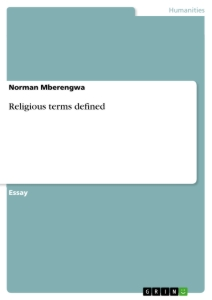 Titel: Religious terms defined