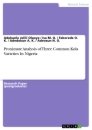 Titel: Proximate Analysis of Three Common Kola Varieties In Nigeria