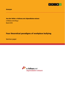 Titel: Four theoretical paradigms of workplace bullying