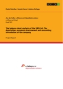 Titel: The balance sheet analysis of the OMV AG. The description, economic environment and accounting information of the company