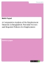 Titel: A Comparative Analysis of the Employment Situation in Bangladesh. Potential Sectors and Required Policies for Employment