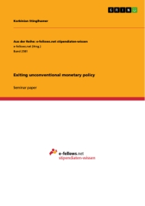 Titel: Exiting unconventional monetary policy