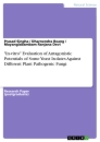 "Titel: ""In-vitro"" Evaluation of Antagonistic Potentials of Some Yeast Isolates Against Different Plant Pathogenic Fungi"