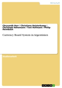 Titel: Currency Board System in Argentinien