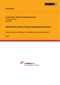 Titel: Adam Smith's View of Human Sentiment and Conduct