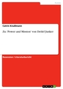 Titel: Zu: 'Power and Mission' von Detlef Junker
