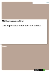Titel: The Importance of the Law of Contract