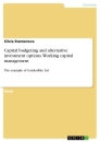 Titel: Capital budgeting and alternative investment options. Working capital management