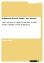 Titel: Determinants of capital structure. A study on the cement sector of Pakistan