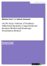 Titel: On The Exact Solution of Nonlinear Differential Equations Using Variational Iteration Method and Homotopy Perturbation Method
