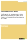 Titel: Challenges in the Implementation of the Performance Management System in the Ministry of Urban and Rural Development in Namibia