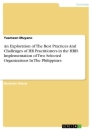 Titel: An Exploration of The Best Practices And Challenges of HR Practitioners in the HRIS Implementation of Two Selected Organizations In The Philippines