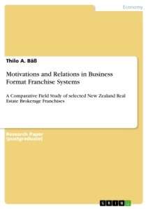 Titel: Motivations and Relations in Business Format Franchise Systems