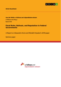 Titel: Fiscal Rules, Bailouts, and Reputation in Federal Governments