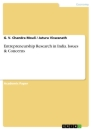 Titel: Entrepreneurship Research in India. Issues & Concerns