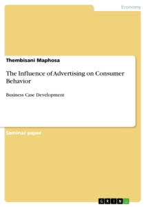 Titel: The Influence of Advertising on Consumer Behavior