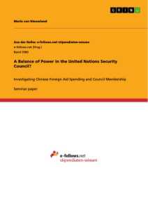 Titel: A Balance of Power in the United Nations Security Council?