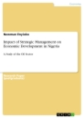 Titel: Impact of Strategic Management on Economic Development in Nigeria