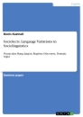 Titel: Sociolects. Language Variations in Sociolinguistics