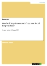 Titel: Goodwill Impairment and Corporate Social Responsibility
