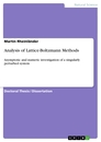 Titel: Analysis of Lattice-Boltzmann Methods