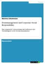 Titel: Eventmanagement und Corporate Social Responsibility